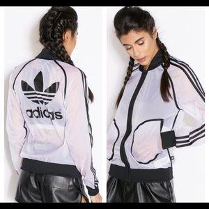 Adidas x Rita Ora Transparent Windbreaker